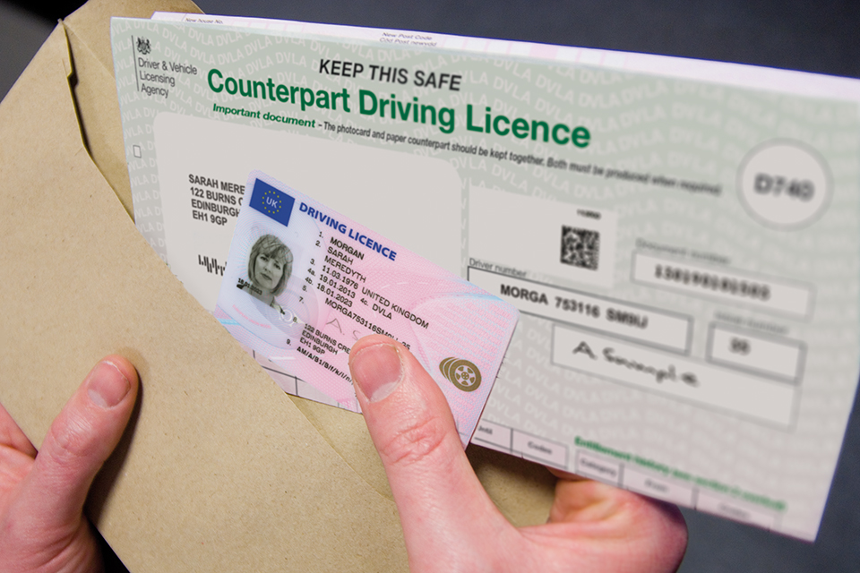 Driving Licence Counterpart photo with Photo Card