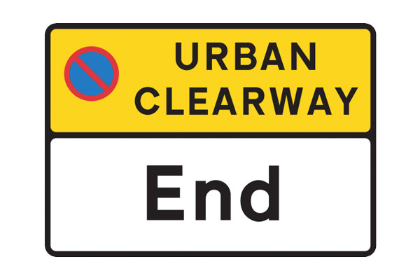 Urban Clearway End