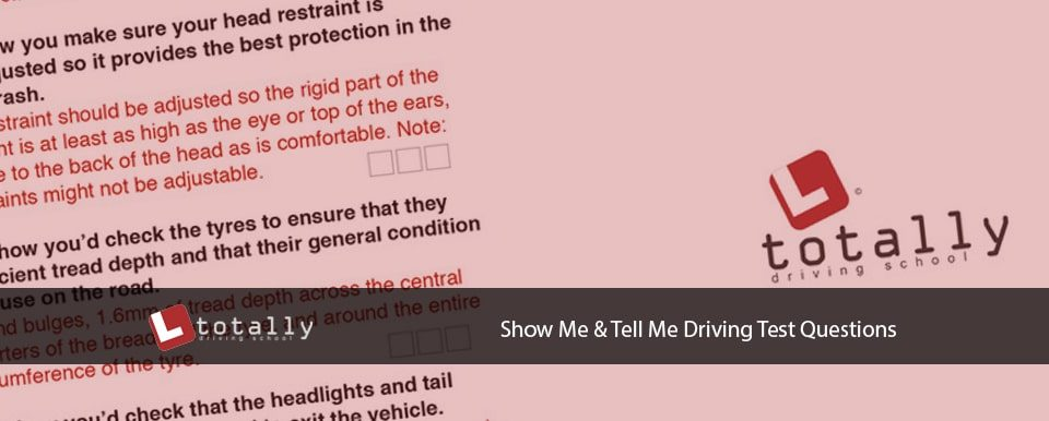 Show Me Tell Me Driving Questions
